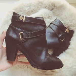 Louise et Cie Black Leather Booties
